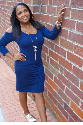 i-am-petite-latoya-blog-launch-navy-blue-tj-maxx-cold-shoulder-dress